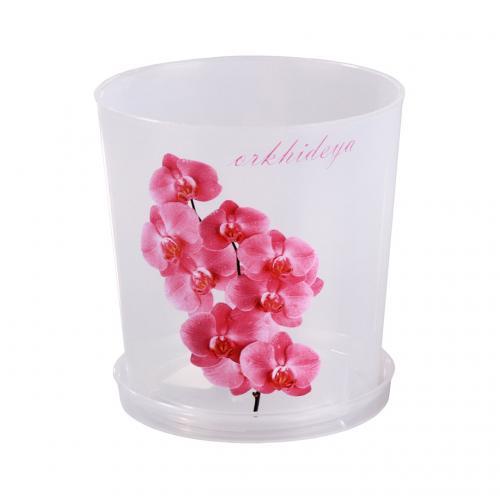 Горшок цв. для орхидеи 1,8 л.с поддоном