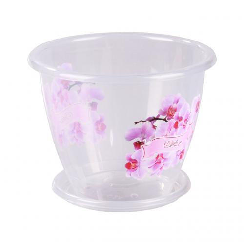 Горшок цветочный «Флора» (орхидея) 2л. с поддоном