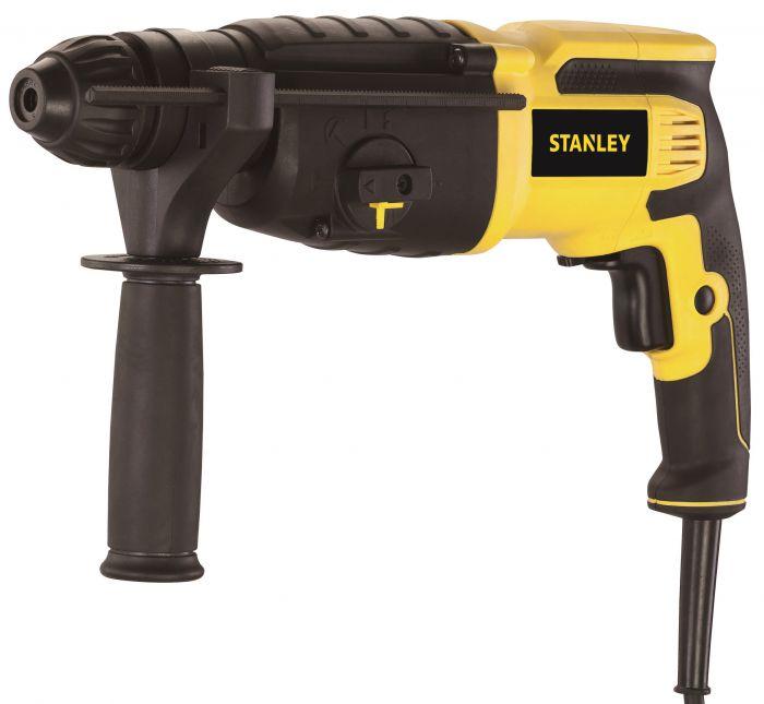 Перфоратор, 26 мм, 800Вт, 3 режима,0-1050об/мин., 0-5200уд/мин., 2,7Дж,  кейс Stanley