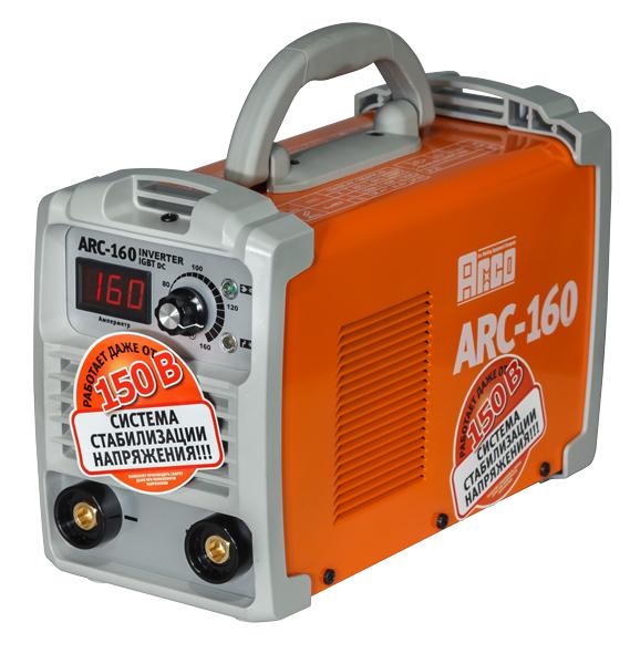 Сварочн. аппарат инверторный ARC-160 (220В, 1,6-4,0мм, 5,6кВт, 5,1кг).