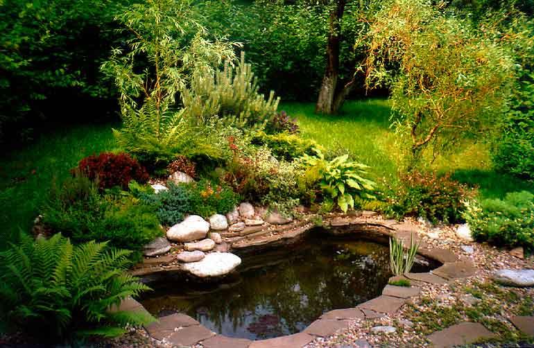 Делаем пруд в саду.