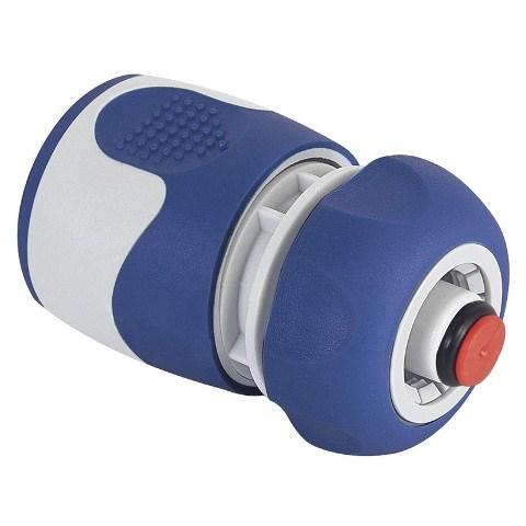 Коннектор для шланга 12 мм (1/2) с аквастопом, пластик TPR GREEN APPLE.