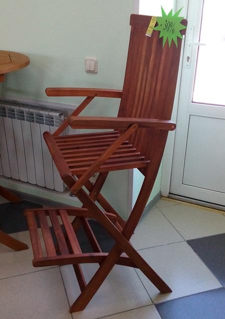 Барный стул L585/W550/H1200 (акация).