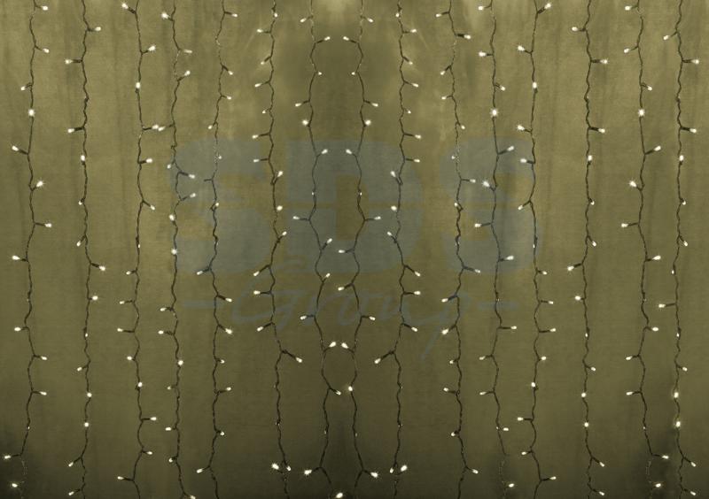 Гирлянда «Светод.дождь» NEON-NIGHT пост.свеч, прозр. провод, ТЁПЛО-БЕЛАЯ 2х1,5м.
