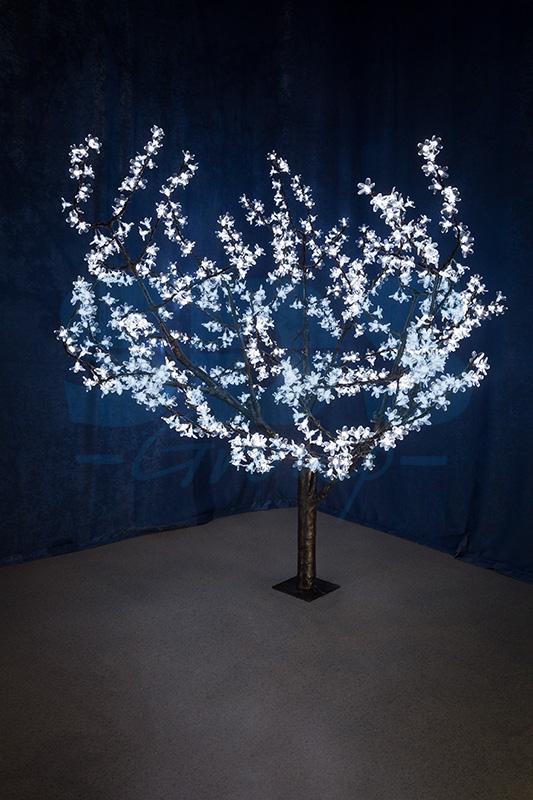 Светод. дерево»Сакура» NEON-NIGHT высота 1,5м крона 1,8м белое.