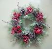 Н55240 Гирлянда новогодняя круглая с ягодами