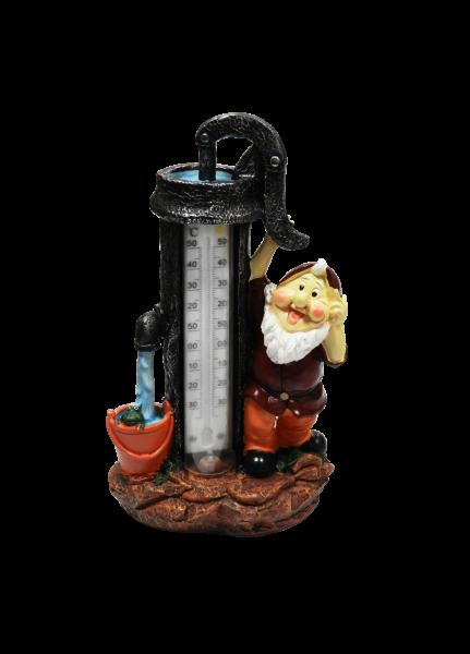 Фонарь на солн. батарее Космос 249 G4 (гном с термометром)