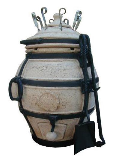 Тандыр Донской Премиум (В комп:крышка,колпачок,поддувало,кочерга,совок,колосник,шампура 8шт)