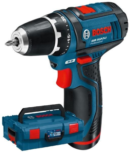 Дрель-шуруповерт акк. Bosch GSR 10,8-2 Li (2ск0-350/1300,, 2,0Ач,вкладыш L-Boxx)