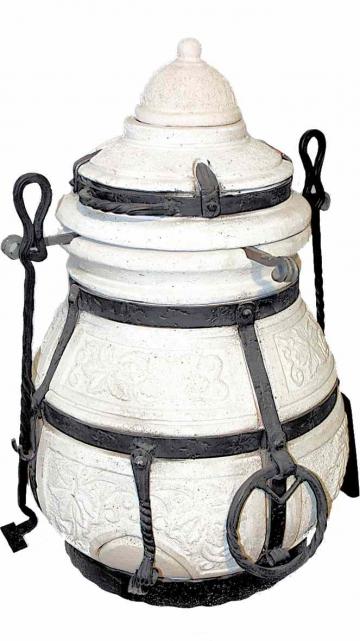 Тандыр Сармат Кочевник (В комп:крышка,колпачок,поддувало,кочерга,совок,колосник,шампура 8шт)