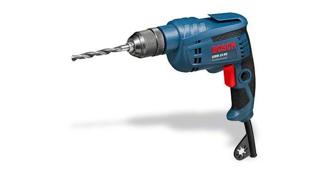 Дрель GBM10 RE Bosch (600Вт, патрон 1-10мм, 20нм,1ск, св. д-25мм/ст.-10мм,1,8кг, рег. об.)
