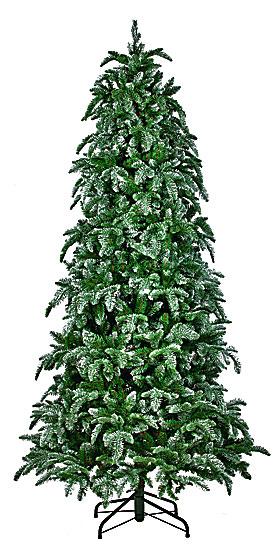 Искусственная елка Ель нормандия утонченная 230 см заснеженная
